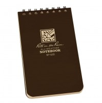 "Rite In The Rain 3""x 5"" Waterproof Pocket Notepad 50 Sheets No.435 NEW Brown"