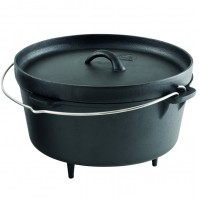 ROBENS CARSON DUTCH OVEN 8.2L Cast Iron Bushcraft Cooking Pot... RRP £59.99