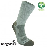 Bridgedale Men's BAMBOO CREW Lightweight Walking / Sport Socks OLIVE/STONE