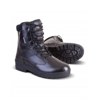Kombat UK Patrol Boot - Full Leather Upper with 3M Thinsulate insulation and padded cow suede collar (Black)