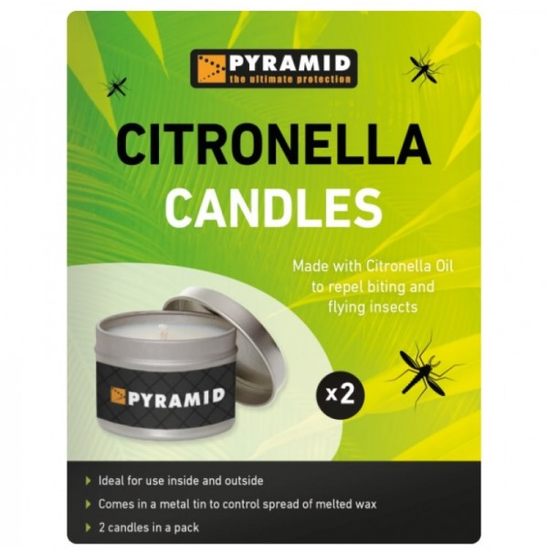 Pyramid Citronella Candles - Twin Pack