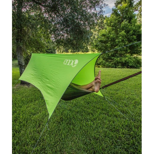 ENO Hammocks ProFly Rain Tarp with 6 Point Guy System, Ripstop 1000mm PU Coating