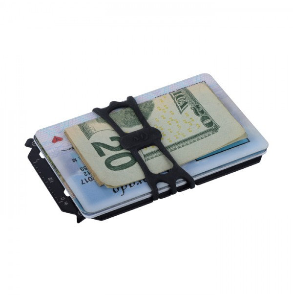 Nite Ize FINANCIAL TOOL Multi Tool Wallet - 7-in-1 multi-tool with cash strap