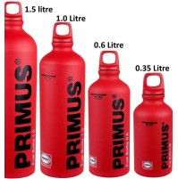 Primus 600ml Fuel Bottle in Matt RED (expedition camping stove liquid fuel) ALL SIZES!