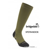 Bridgedale STORMSOCK Heavyweight Knee Olive - Waterproof & Breathable Sock