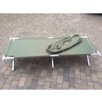 NEW Genuine British Army Heavy Duty Aluminium Frame Folding Camp Bed upto 150kg!