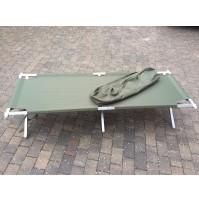 NEW Genuine British Army Heavy Duty Aluminium Frame Folding Camp Bed upto 250kg!