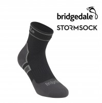 Bridgedale STORMSOCK Lightweight Ankle Black/Grey - Waterproof & Breathable Sock