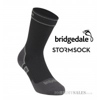 Bridgedale STORMSOCK Lightweight Boot Black/Grey - Waterproof & Breathable Socks