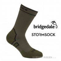 Bridgedale STORMSOCK Midweight Boot Olive - Waterproof & Breathable Sock