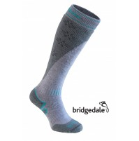 Bridgedale SKI MOUNTAIN WOMEN'S Long Socks in STONE/GREY