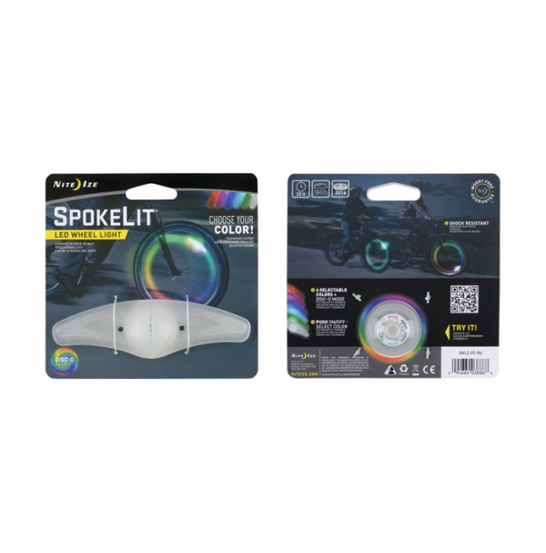 Nite Ize SPOKELIT WHEEL LIGHT - DISC-O SELECT Durable, Colourful Bicycle Light