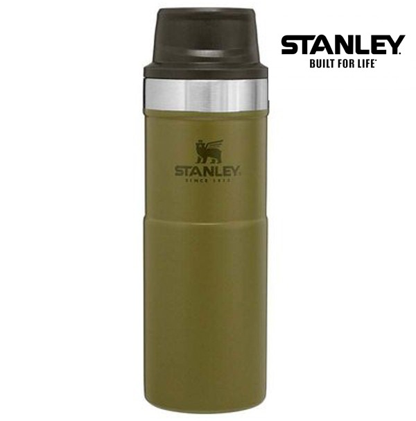 Stanley Classic Trigger Action Travel Mug 16 oz (0.47L) Military Olive Drab Green