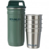 Stanley Adventure 4 Stainless Steel Shot Glass Set Classic Hammertone Green