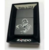 Genuine ZIPPO 218 Scorpion Matte Black Traditional Brass Windproof Lighter