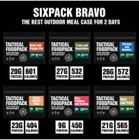 Tactical Foodpack Six Pack Bravo High Energy Freeze Dried Expedition Food Box