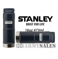 Stanley Classic Blue One Handed 6 Hrs Hot Drinks Flask 16oz 473ml