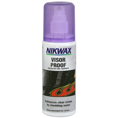 Nikwax VISOR PROOF Spray-on Rain Repellent for Motorcycle Visors and Ski Goggles