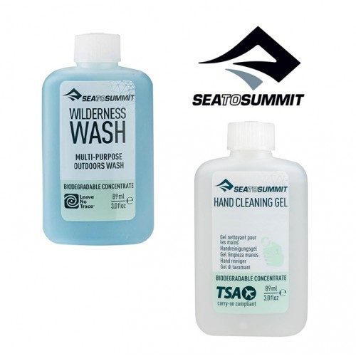 Sea to Summit Trek & Travel Wilderness Hygiene Twin Pack Wash & Hand Gel 2x 89ml