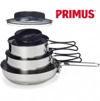 Primus Gourmet Set  3 Piece Stainless Steel Cook Set 1L, 1.8L & Frying PanS