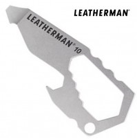 Leatherman #10 Keychain Tool Box Wrench Bottle Opener Screwdriver, Camping, Beer