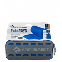 Sea to Summit POCKET TOWEL XL Cobalt Blue Lightweight Microfibre Travel Towel
