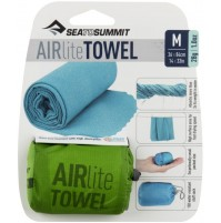 Sea to Summit AIRLITE TOWEL lightweight, super compact, fast drying travel towel. Lime