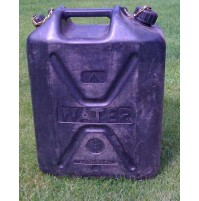 20 Litre Heavy Duty Black Plastic Water Container