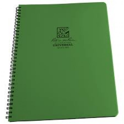 "Rite In The Rain Waterproof Pocket Notepad  Notebook / Notepad 32 Sheets 4 5/8 x 7"" GREEN No 973"