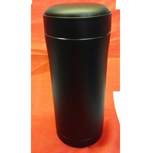 Army PLCE Ammo Pouch Matt Black Stainless Steel 330ml Thermal Mug / Drinks Flask NEW