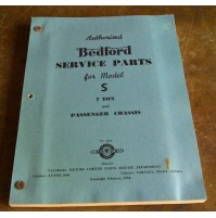 Genuine Bedford Model S 7 TON Service Parts Book (1954)