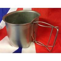 Genuine British Army Stainless Steel 58 pattern Crusader Mug Grade A
