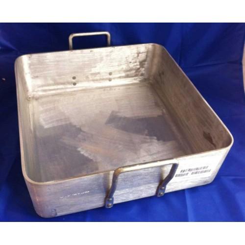 Large Solid Aluminium 40x40x22cm deep Roasting & Baking Pan NEW