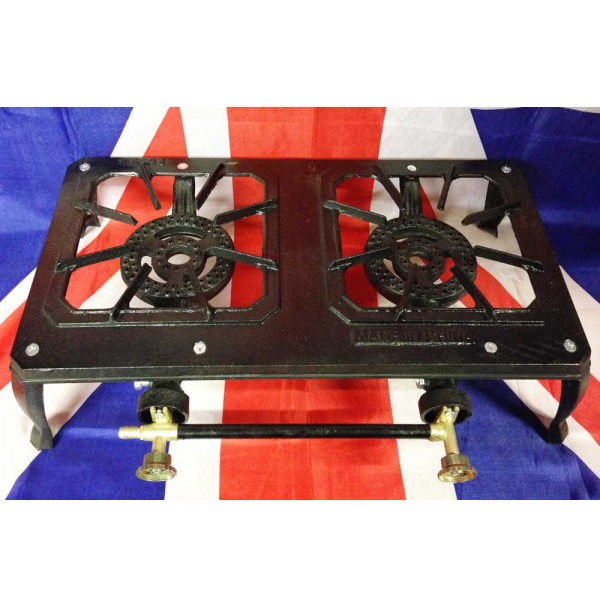 Nomad Duo Cast Iron Double Burner Gas Stove