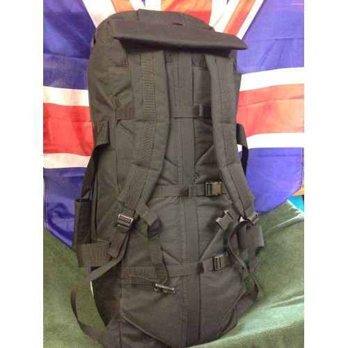 DEPLOYMENT BAG - current British Army Issue, 110 litre capacity BLACK BAG,  Grade A