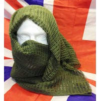 Large 1mx1m Green Army Mesh Scrim Scarf / Special Forces Sniper Weapon Wrap NEW