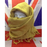 Shemagh Scarf in Desert Sand/Gold Grade A 110x110cm