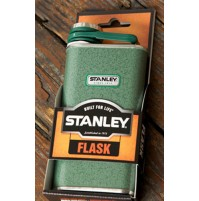 Stanley Classic Pocket Flask/Hip Flask in Hammertone Green for Spirits 0.23L/8oz
