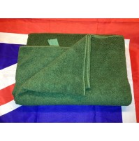British Army Large Green Micro Fibre / Fleece Towel, Current Issue, Grade A Used
