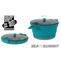 Sea to Summit X Pot 2.8L PACIFIC BLUE Folding & Lightweight for Backpacking